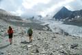 La montée le long du glacier de Gébroulaz