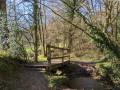 La petite passerelle sur le ruisseau de Jandière