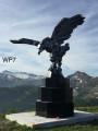 La sculpture d'aigle à l'antenne