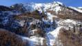 La tête de la Mazelière avec les cascades de glace