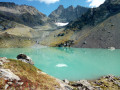 Le Lac Blanc depuis le Col de Pré Long