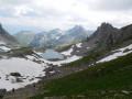 Refuge et Lac Presset depuis le Cormet de Roselend