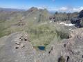 lac Lestio vu dans la descente de la pointe Joanne