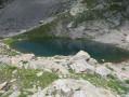 Les Lacs du Mont Clapier depuis le refuge de Nice