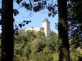 Le château pendant la montée