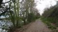 Le chemin de randonnée en bord de Loire