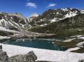 Le Refuge de Péclet-Polset et le Lac Blanc