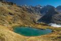 Le lac Bleu sur fond des Bans