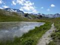 Le petit Lac du Montaulever depuis Val Thorens