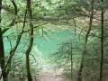 Le lac vert émeraude