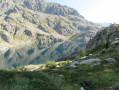 le lac vert et le refuge de Valmasque