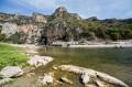 le long de l'Ardèche : baignade et pique-nique