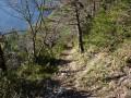 Le magnifique sentier de descente