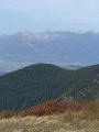 """Le massif des Bauges vu depuis le crête de la """"Grande Montagne d'Arvillard"""""""