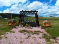 Le monument à la mémoire des travailleurs de la mine.
