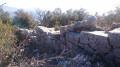 le mur juste avant le sommet du baou de La Gaude
