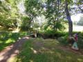 Le petit pont de bois à mi chemin du tour de l'étang de Poncharal