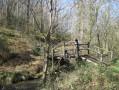 Le petit pont de bois qui enjambe le ruisseau de La Brousse