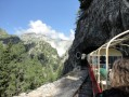 Le petit train d'Émosson, et vue sur le barrage