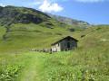 Le refuge de la Martin et les Brévières depuis Tignes-Les Boisses