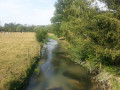 Le rivière de l'Auzon depuis le pont de Montandon