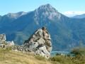Le rocher de la marmotte et le pic du Morgon