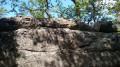 Le rocher des reptiles de près