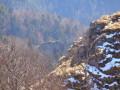 Le rocher du Fuchsfelsen depuis le rocher du Vogelstein