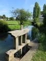 le ruisseau de Fonteneau à Paulnay et la bonde d'évacuation