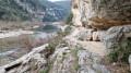 Gorges de l'Ardèche entre la Grotte Saint-Marcel et le Rapide de la Fève