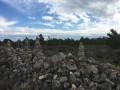 Le Sentier du Guetteur Leucate : les murets de pierres.