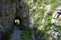 Le tunnel le long du Riou