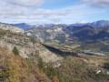 Le Vercors et la Vallée de la Drôme depuis le Pas de la Bernarde