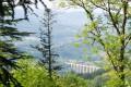 Le viaduc de Mussy vu depuis la montagne de Dun