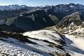 Les Aiguilles d'Arves et de la Saussaz, la Meije et les Grandes Rousses depuis le Col de Buyant