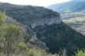 Les falaises et la vallée de Rompon