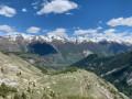 Granges et sommet de Chabanals dans le vallon de Demandols