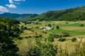 Les hameaux dans la vallée de Loscence