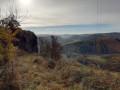 Les Orgues de Chadecol et Vue sur la Vallée de l'Allagnon