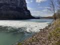 Promenade sur la digue de l'Isère au Pont de Veurey
