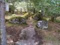 Les rochers en sous bois