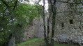 Les ruines du château de Lespugue