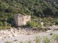 Les ruines du vieux moulin dans les Gorges du Gardon