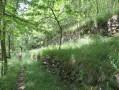 les terrasses d'anciennes cultures de la Liure