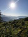 Lever du soleil dans la montée vers le Mondarrain