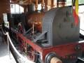 locomotive reconstituée entiérement en bois