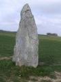Le Menhir de Pierre Cornoise entre Thoury et Flagy