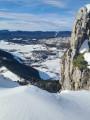 Le Habert et Croix des Ramées depuis le stade de neige de Lans-en-Vercors