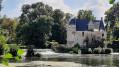 Chemin du bord de Loir vers le château de Gallerande et Pringé