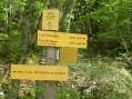 Panneau directionnel Bois de la Ravoire